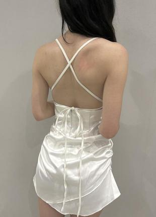 Платье шелковое, атласное выпускное, свадебное
