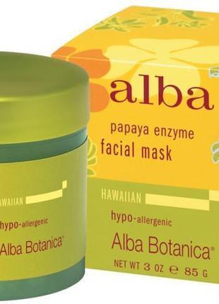 Alba botanica, гавайская маска для лица, с ферментом папайи для сужения пор, 85 г