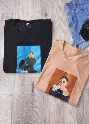 Новые футболки с принтом