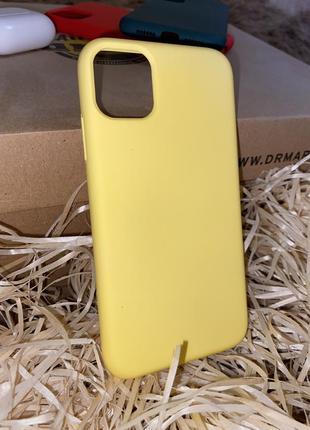 Желтый чехол на айфон 11 iphone 💛