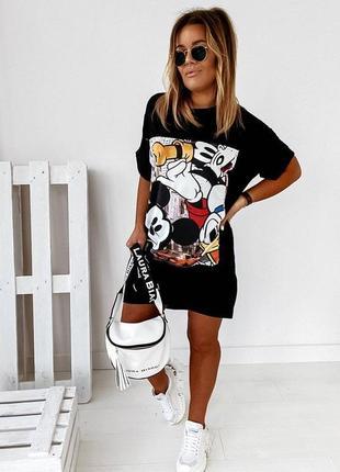 Стильное платье туника футболка