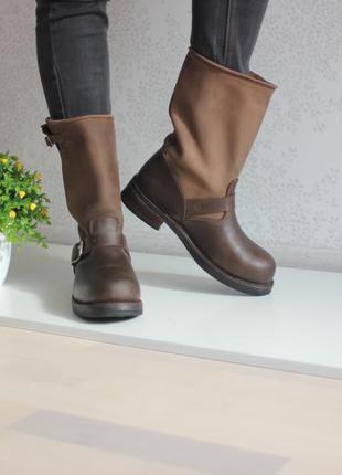 Кожаные сапоги, натуральная кожа полностью, бренд buffalo оригинал 41,5