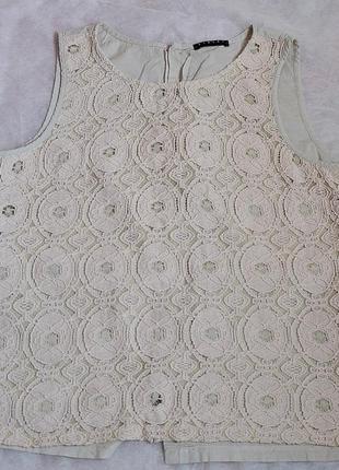Нежная кружевная летняя блуза, топ sisley