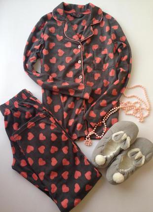Мягенькая пижама пижамка в сердечки primark love to lounge размер s