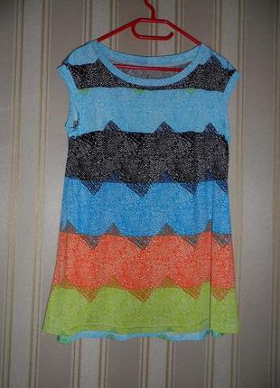 Блуза короткий рукав размер 44// xxl