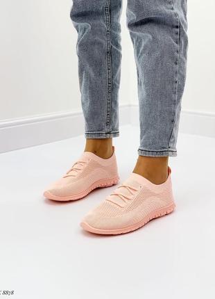 Кроссовки сетка светло-розовые