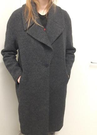 Пальто кокон фирменное,натуральное