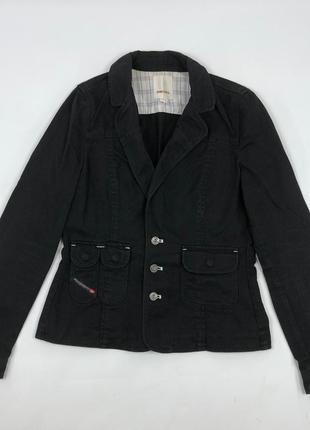 Женский джинсовый кэжуал пиджак diesel jacket куртка party блейзер