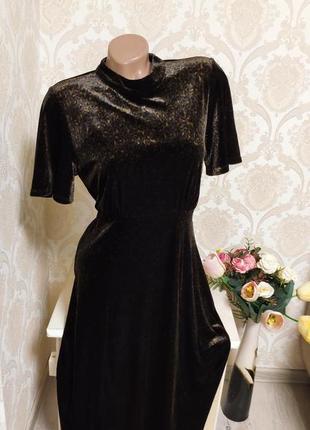 Невероятно красивое и стильное бархатное вилюровое платье