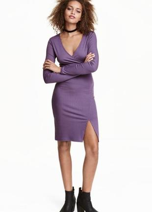 H&m короткое платье из мягкого, рельефного трикотажа
