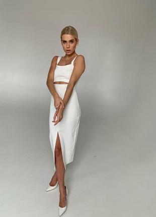 Женское платье футляр,женское платье миди с разрезом на ноге