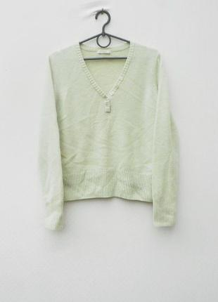 Натуральный шерстяной  свитер с длинным рукавом