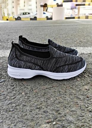 Слипоны черные серые сірі сліпони чорні летние літні кроссовки без шнурков кросівки