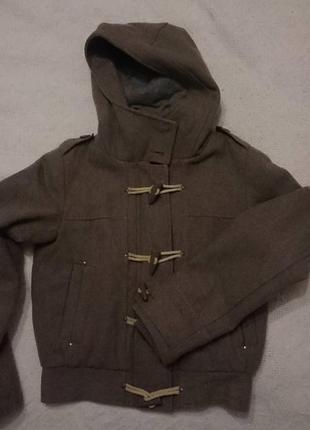 Зимняя шерстяная куртка из пальтовой ткани