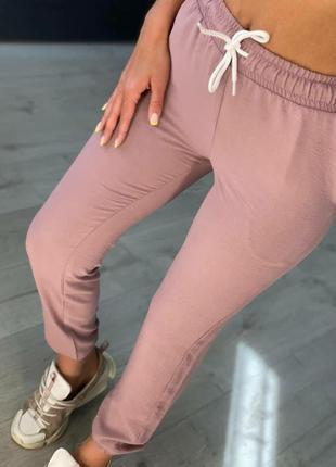Летние брюки на комфортной посадке с манжетами