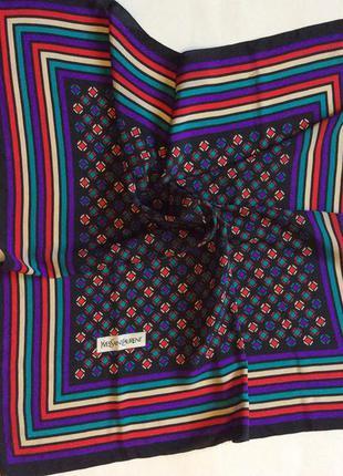 Женский платок yves saint laurent оригинал 100% шёлк