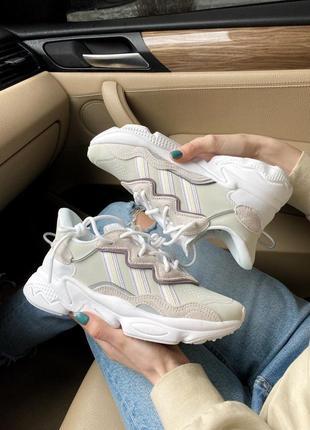 Кроссовки adidas ozweego white ew