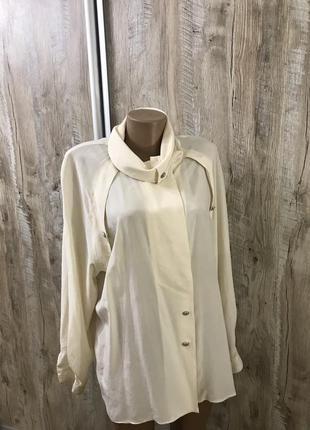Шикарная большой размер шелковая блуза блузка шёлк натуральный l'estelle