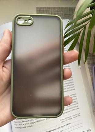 Качественный силиконовый чехол iphone 7 8 se 2020