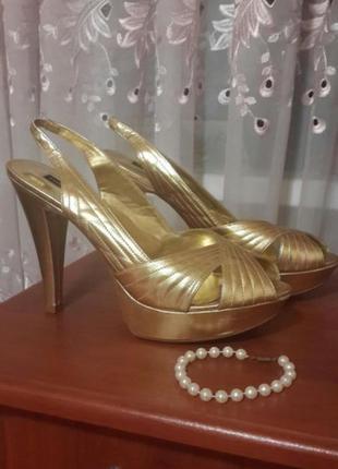 🔴s a l e🔴 👠 👠 👠 босоножки босоніжки золото chinese laundry
