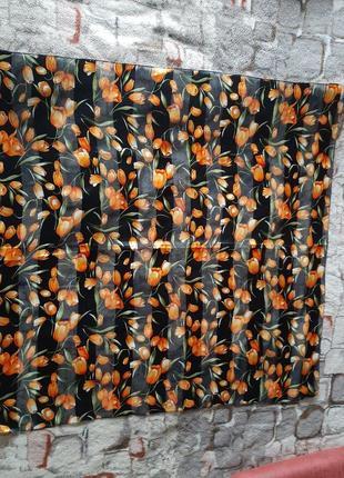 Яркий модный платок большой размер  италия с принтом тюльпаны