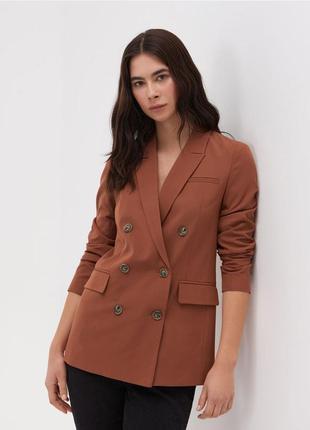 Шикарный двубортный блейзер жакет пиджак oversize оверсайз