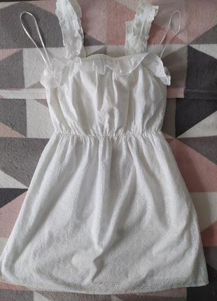 Летнее мини платье сарафан