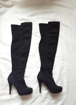 Высокие сапоги чулки за колени