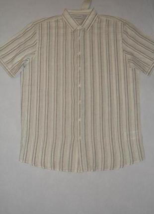Рубашка мужская льняная livergy германия размер м