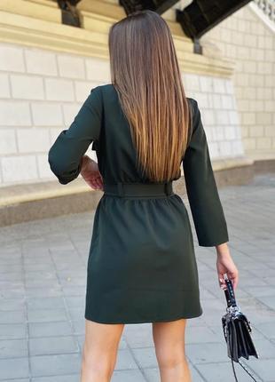 Платье женское короткое повседневное на пуговицах2 фото