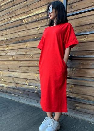 Платье - футболка 7 цветов🔥5 фото