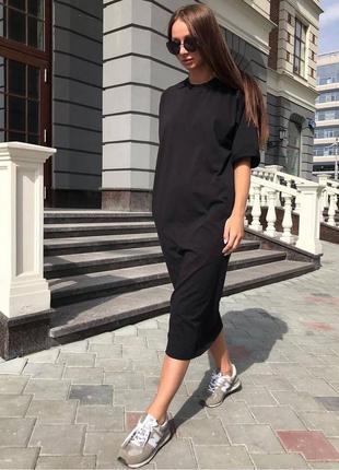 Платье - футболка 7 цветов🔥2 фото