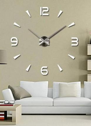 Часы настенные 3d  серебро skl11-240779
