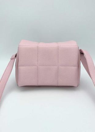 Маленькая стеганая сумка «дина» розовая
