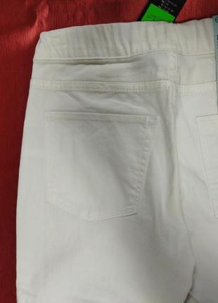 Джегинсы лосины женские белые размер 36, 40 евро (наш 42, 46 )4 фото