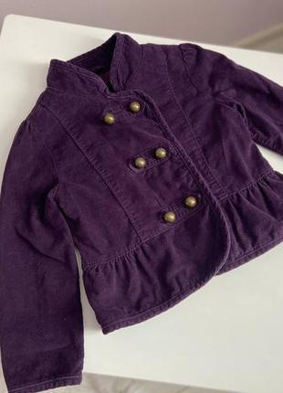 Класнючий вельветовый пиджак для девочки