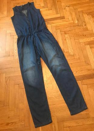 Летний,джинсовый,брючный комбинезон,sublevel