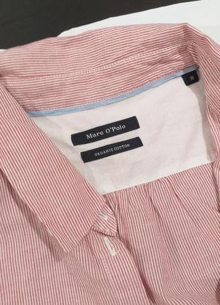 Базовая коттоновая рубашка с коротким рукавом marc o'polo  m