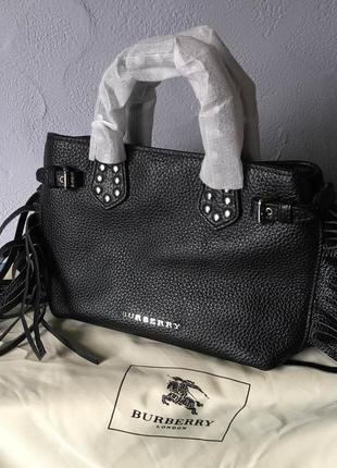 Брендовая сумка, кожаная (из натуральной кожи) burberry