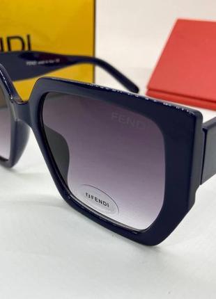 Fendi очки женские солнцезащитные синяя геометрия