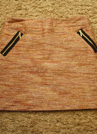 Юбка next плотная ткань меланж