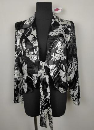 Блуза новая шелковая роскошная в цветы uk 14/42/l