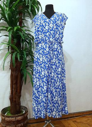 Стильное модное трендовое натуральное платье большого размера 16