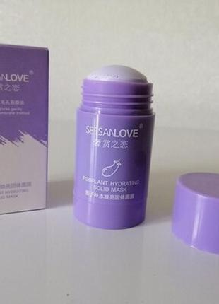 Маска для лица sersanlove mud eggplant solid mask с экстрактом баклажана 40 g