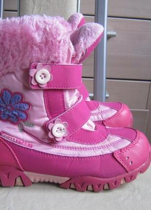 Термоботинки super gear розовые цветок венгрия р.35