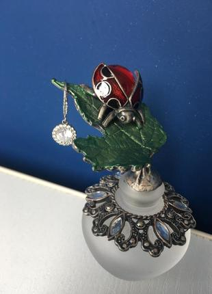 Моносерьга, серебро, цирконий
