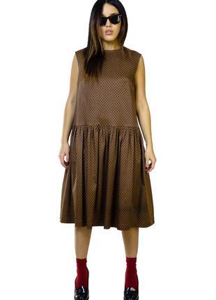 Платье оверсайз в горошки