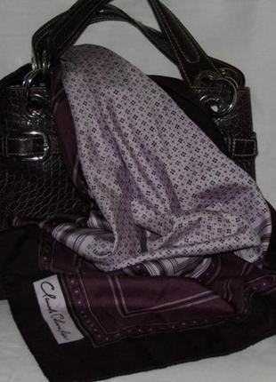 Подписной мужской  шелковый  платок claude chevalier