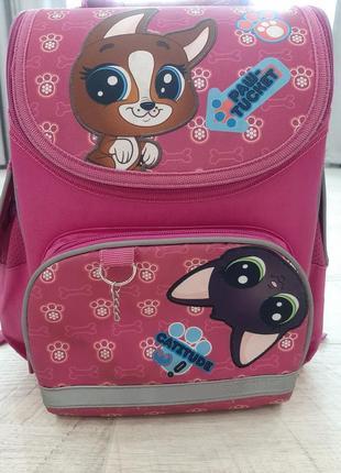 Школьный каркасный рюкзак kite littlest pet shop