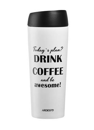 Термочашка 450 мл ardesto coffee time [awesome]